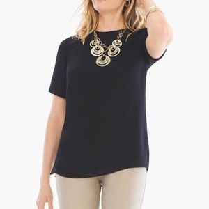 Chico's cold shoulder cut out tunic